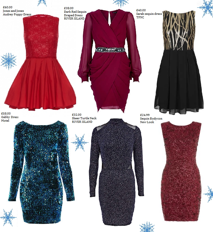 Christmas Party Dresses £60 and under.